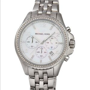 Michael Kors Pilot Mother of Pearl Stainless Watch
